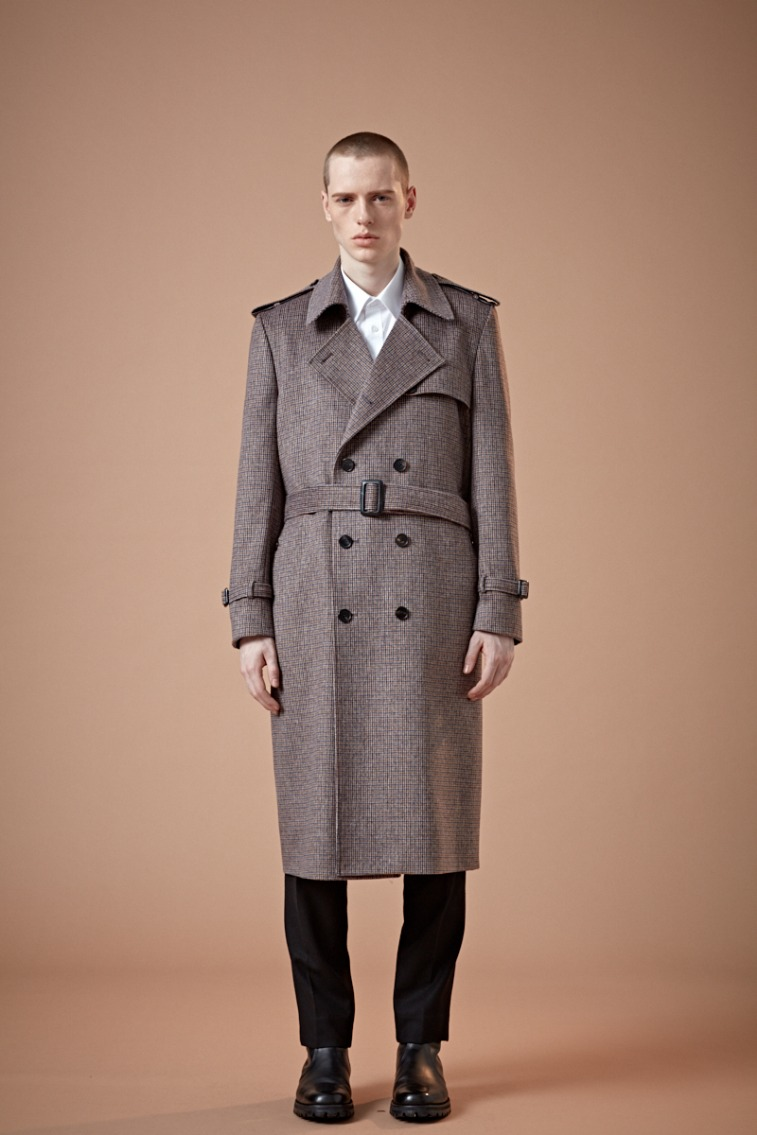 KING-DOM BRITISH MULTI-CHECK WINE LONG TRENCH COAT(최고급 봄 가을용 울100% 원단)(WOOL 100%)(TC-005)