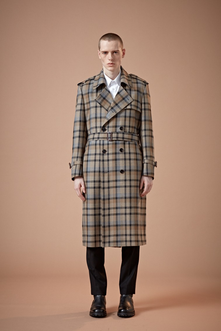KING-DOM BRITISH MULTI-CHECK LONG TRENCH COAT(최고급 봄 가을용 울100% 원단)(WOOL 100%)(TC-006)
