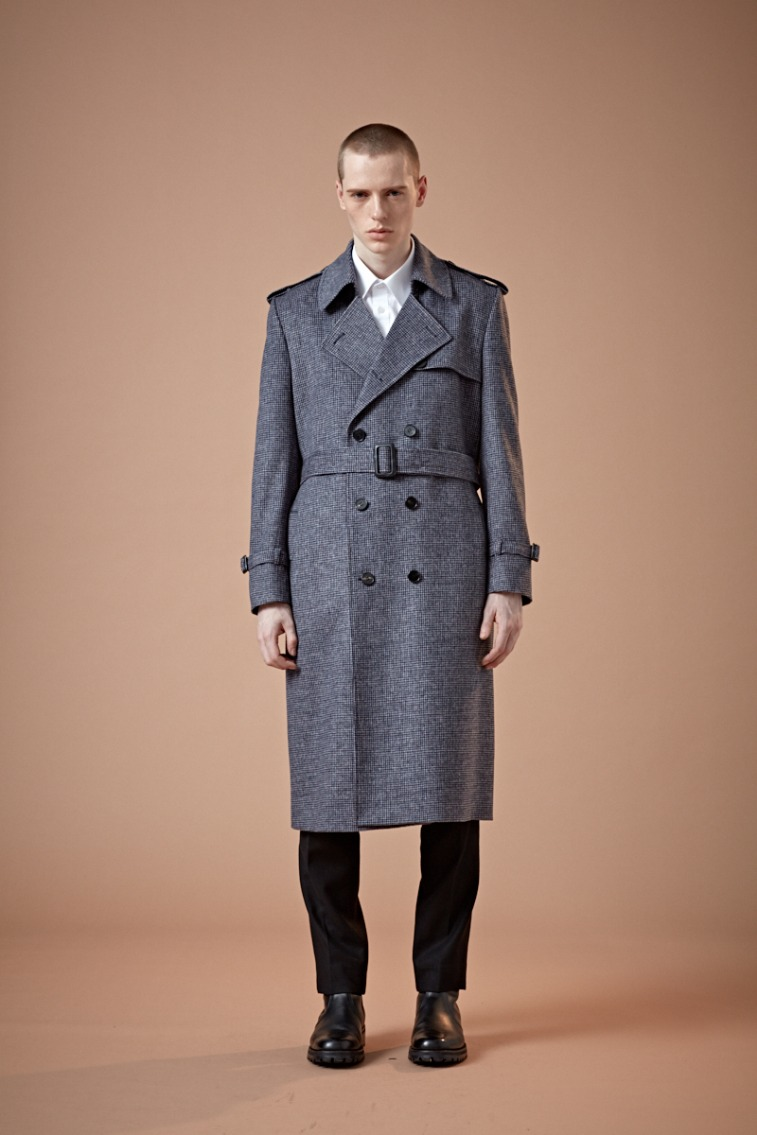KING-DOM BRITISH MULTI-CHECK NAVY LONG TRENCH COAT(최고급 봄 가을용 울100% 원단)(WOOL 100%)(TC-004)