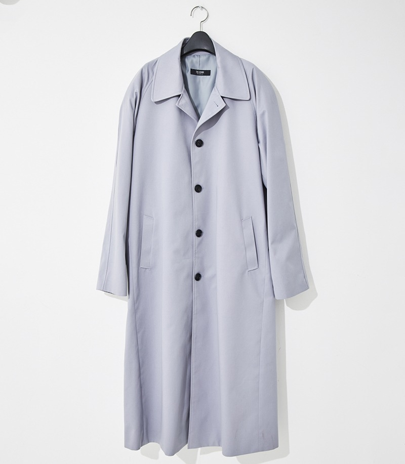 2020-21 F/W NEW COLLECTIONTRENCH NAGRANG SINGLE LIGHT-GREY LONG COAT(오버핏 & 기본핏 - 코튼 100%)(TC-014)(남성용 + 여성용)