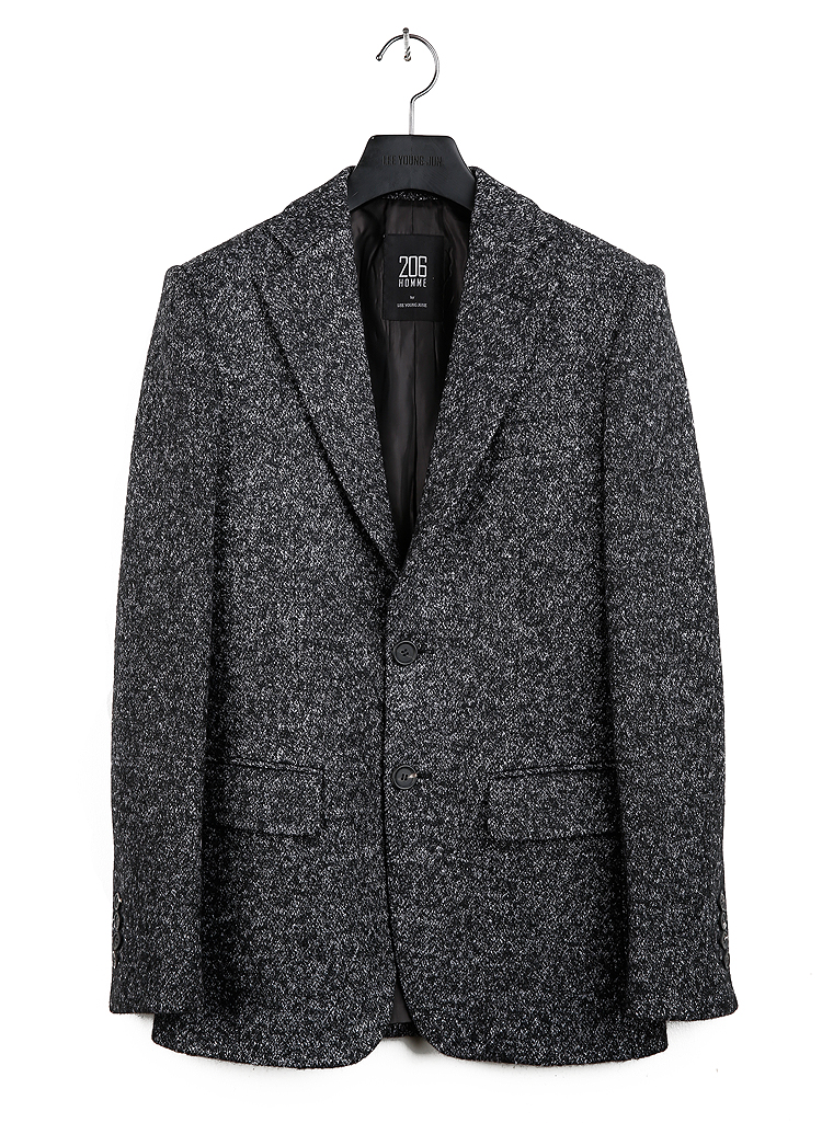 HAND-MADE™ BOCASI WOOL TWO-BUTTON SLIM JACKET(BOCASI WOOL)(JK-023)