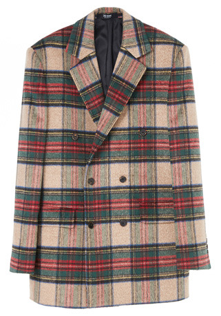 SEMI-OVER FIT™ TARTAN CHECK® BEIGE DOUBLE WOOL JACKET(JK-88)