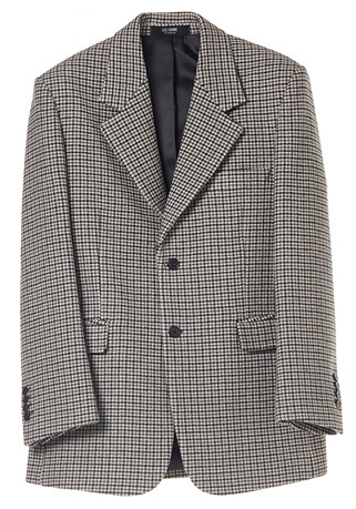 SEMI-OVER FIT™ CHECK GREY SINGLE WOOL JACKET(JK-81)