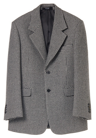 SEMI-OVER FIT™ HOUND-TOOTH CHECK SINGLE WOOL JACKET(JK-80)