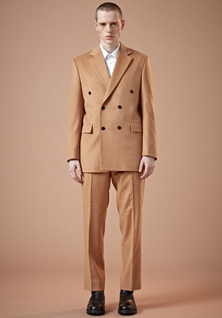 SEMI-OVER FIT BEIGE DOUBLE SUIT(최고급 가을 겨울용 캐시미어20%+울80% 원단)(CASHMERE 20% + WOOL 80%)(ST-25)