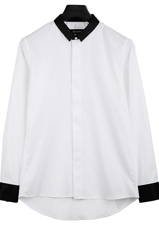 [206 HOMME by LEE YOUNG JUN]2020 S/S NEW COLLECTIONGENTLEMAN ARRANGE SLIM WHITE SHIRTS(SH-098)