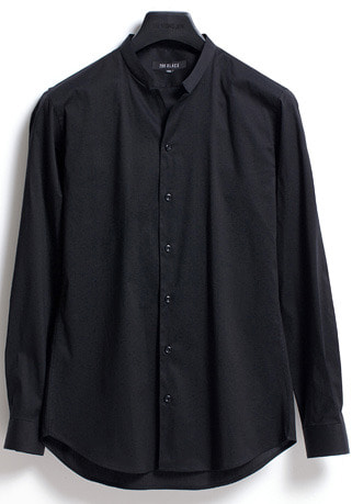 [206 HOMME]2020 S/S NEW COLLECTIONEDGE-COLLAR BLACK SLIM SHIRTS(SH-055)
