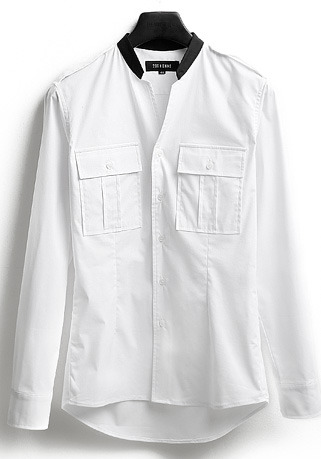 [206 HOMME]2020 S/S NEW COLLECTIONCONTEMPORARY ARRANGE WHITE SHIRTS(SH-036)