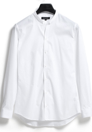 [206 HOMME]2020 S/S NEW COLLECTIONEDGE-COLLAR WHITE SLIM SHIRTS(SH-056)