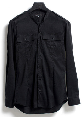 [206 HOMME]2020 S/S NEW COLLECTIONCONTEMPORARY EDGE BLACK SHIRTS(SH-034)