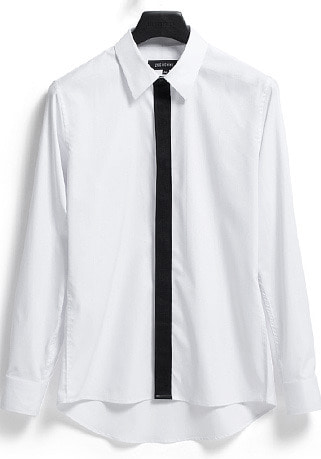 "[206 HOMME]2020 S/S NEW COLLECTION""HYBRID""TIE-FAKE HYBRID WHITE SHIRTS(SH-087)"