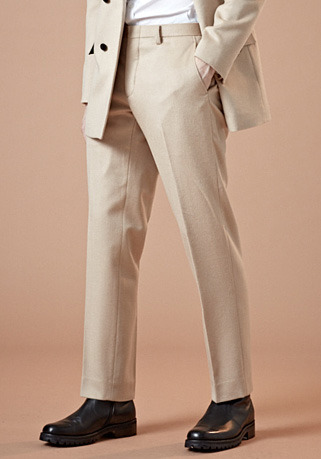 [206 HOMME by LEE YOUNG JUN]2020 S/S NEW COLLECTIONCASHMERE-WOOL IVORY PANTS(최고급 가을 겨울용 캐시미어20%+울80% 원단)(CASHMERE 20% + WOOL 80%)(BT-137)