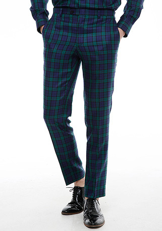[206 HOMME by LEE YOUNG JUN]2020 S/S NEW COLLECTIONHAND-MADE™ TARTAN-CHECK TAILORED PANTS(BT-099)