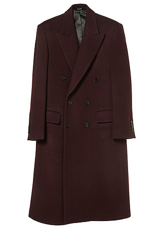 "CONTEMPORARY BURGUNDY-WINE DOUBLE LONG COAT(CASHMERE 30% WOOL 70%)(CT-177)[김래원 ""흑기사"" KBS 드라마 협찬]"