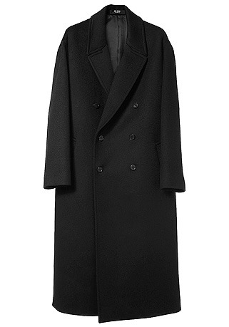HIGH-END™ OVERSIZE DOUBLE BLACK LONG COAT(최고급 터치감 캐시미어20% + 울80% 원단)(CASHMERE 20% + WOOL 80%)(남여공용)(CT-220)