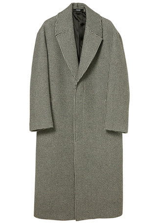 "OVER-FIT™ HOUND-TOOTH-CHECK SUPER LONG COAT(최고급 터치감 울100% 원단)(WOOL 100%)(CT-198)(남여공용)[김래원 ""흑기사"" KBS 드라마 협찬]"