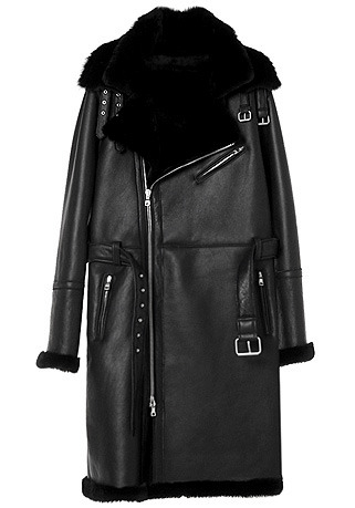 BIKER DOUBLE-COLLAR BLACK LONG MUSTANG(ITALY MUSTANG-100%)(남성용 + 여성용)(MS-067)