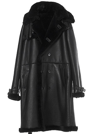 TRENCH DOUBLE-COLLAR BLACK LONG MUSTANG(ITALY MUSTANG-100%)(남성용 + 여성용)(MS-069)
