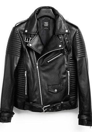 HIGH-QUALITY™ BELTED GOAT BIKER(HAND DOUBLE-STICH™)(기본핏 - 고트가죽 & 양가죽)(LT-179)(남성용)
