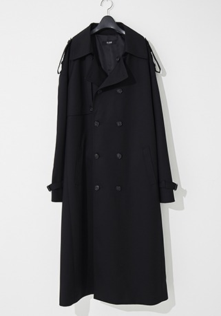 2020-21 F/W NEW COLLECTIONOVERSIZE CONTEMPORARY BLACK LONG COAT(오버핏 & 기본핏 - 코튼 100%)(TC-010)(남성용 + 여성용)