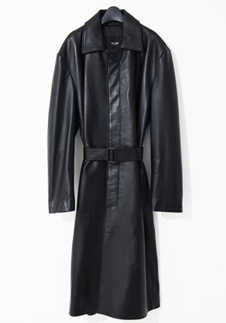 2020-21 F/W NEW COLLECTIONTRENCH HIDDEN SINGLE LEATHER LONG COAT(오버핏 & 기본핏 - 소가죽 & 양가죽 & 고트가죽)(LT-258)(남성용 + 여성용)