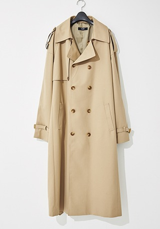 2020-21 F/W NEW COLLECTIONOVERSIZE CONTEMPORARY BEIGE LONG COAT(오버핏 & 기본핏 - 코튼 100%)(TC-009)(남성용 + 여성용)
