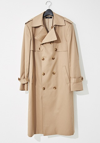 2020-21 F/W NEW COLLECTIONMINIMAL TRENCH BEIGE LONG COAT(기본핏 & 오버핏 - 코튼 100%)(TC-013)(남성용 + 여성용)