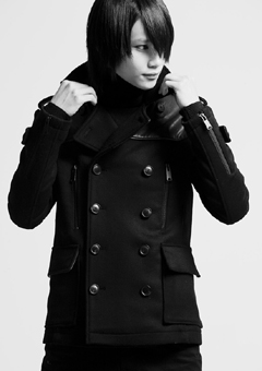 [206 HOMME]CASHMERE LEATHER PEA-COAT(JP-005)