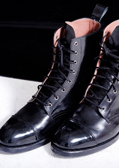 [206 HOMME]2020 S/S NEW COLLECTIONENAMEL COMBAT BOOTS (SS-041)