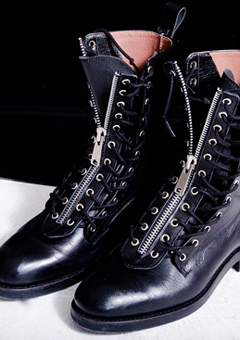 [206 HOMME]2020 S/S NEW COLLECTIONSILVER ZIPPER COMBAT BOOTS (SS-039)