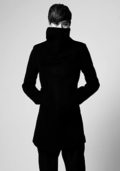 [206 HOMME]NINJA HIGH-NECK WOOL COAT(CASHMERE 20% + WOOL 80%)(CT-095)