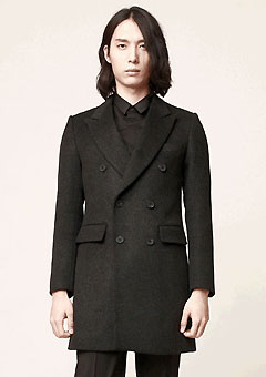 [206 HOMME]                 CASHMERE WOOL DOUBLE COAT