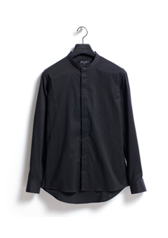 [206 HOMME by LEE YOUNG JUN]2020 S/S NEW COLLECTIONCHINA-COLLAR BLACK SLIM SHIRTS(SH-053)