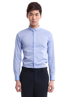 [206 HOMME by LEE YOUNG JUN]2020 S/S NEW COLLECTIONSLIM-COLLAR BLUE SLIM SHIRTS(SH-049)