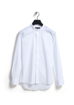 [206 HOMME by LEE YOUNG JUN]2020 S/S NEW COLLECTIONCHINA-COLLAR WHITE SLIM SHIRTS(SH-054)