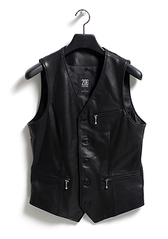 [206 HOMME by LEE YOUNG JUN]CLASSIC LEATHER SINGLE VEST(LT-057)(남성용 + 여성용)