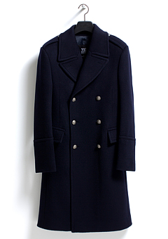 [206 HOMME]BRITISH NAVY CASHMERE WOOL LONG COATMAN+WOMAN(CASHMERE 20% + WOOL 80%)(CT-044)