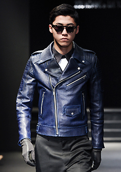"[206 HOMME by LEE YOUNG JUN]SEOUL COLLECTION""HYBRID""PREMIUM RUNWAY BIKER BLUE-NAVYMAN + WOMAN(LT-011)"