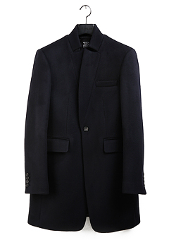 [206 HOMME]CHINA-COLLAR NAVY CASHMERE WOOL COATMAN+WOMAN(CASHMERE 20% + WOOL 80%)(CT-076)