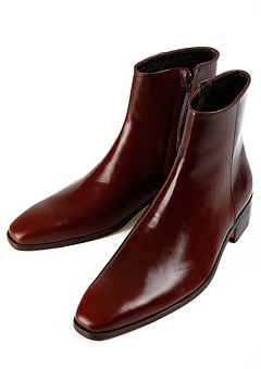 [206 HOMME]2020 S/S NEW COLLECTIONRUNWAY RED-WINE ANKLE BOOTS(SS-050)