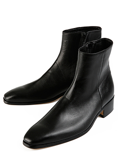 [206 HOMME]2020 S/S NEW COLLECTIONRUNWAY BLACK ANKLE BOOTS(SS-051)