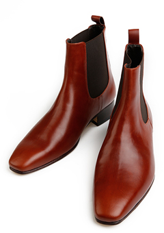 [206 HOMME]2020 S/S NEW COLLECTIONCHELSEA RED-WINE ANKLE BOOTS(SS-048)