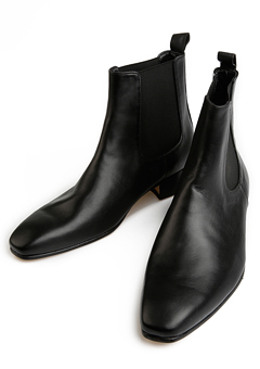 [206 HOMME]2020 S/S NEW COLLECTIONCHELSEA BLACK ANKLE BOOTS(SS-049)