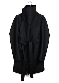 [206 HOMME]NINJA HIGH-NECK WOOL BELTED COAT(CASHMERE 20% + WOOL 80%)(CT-091)