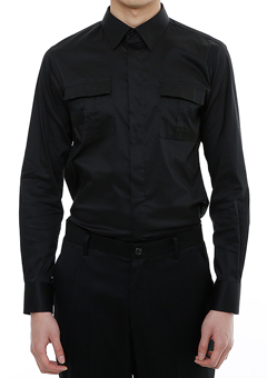 [206 HOMME]2020 S/S NEW COLLECTIONHIDDEN BLACK TAILORED SHIRTS(SH-092)