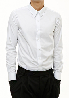 [206 HOMME]2020 S/S NEW COLLECTIONMINIMAL SLIM-FIT WHITE SHIRTS(SH-094)