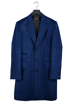 [206 HOMME]2015-16 F/W NEW COLLECTIONHAND-MADE™ SINGLE BLUE 3-BUTTON 2-POCKET COAT(CASHMERE WOOL 100%)MAN + WOMAN(CT-129)