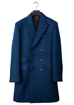 [206 HOMME]2019-20 F/W NEW COLLECTIONHAND-MADE™ DOUBLE BLUE CASHMERE WOOL 3-BUTTON 2-POCKET COAT(CASHMERE 20% + WOOL 80%)MAN + WOMAN
