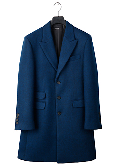 [206 HOMME]2019-20 F/W NEW COLLECTIONHAND-MADE™ SINGLE BLUE CASHMERE WOOL 3-BUTTON 2-POCKET COAT(CASHMERE 20% + WOOL 80%)MAN + WOMAN