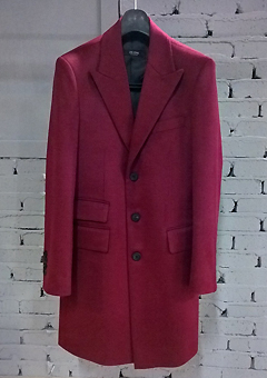 [206 HOMME]2014-15 F/W NEW COLLECTIONHAND-MADE™ SINGLE WINE 3-BUTTON 2-POCKET COAT(CASHMERE WOOL 100%)MAN + WOMAN